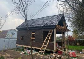 Фотоотчет дома из бруса 5х8 «Инд. проект»